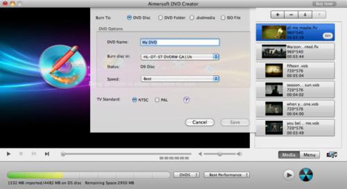 Burn DVD with Aimersoft DVD Creator for Mac