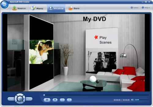 Burn DVD with Aimersoft DVD Creator