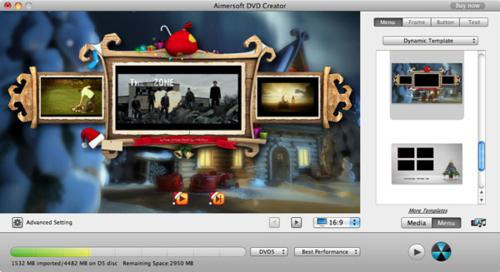 Customize DVD menu with Aimersoft DVD Creator for Mac