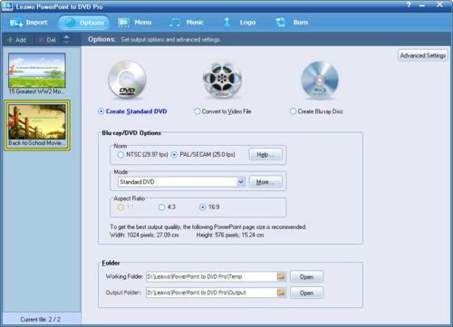 Leawo PowerPoint to DVD Pro screenshot