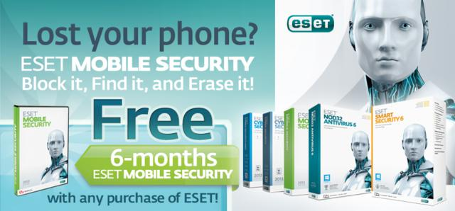 ESET Mobile Security free 6 months