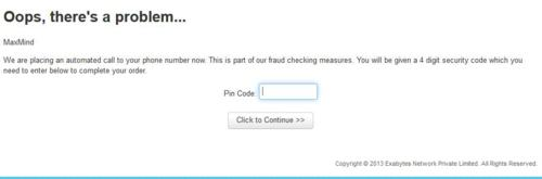 Enter code to active account