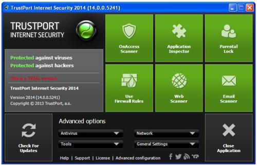TrustPort Internet Security 2014 screenshot
