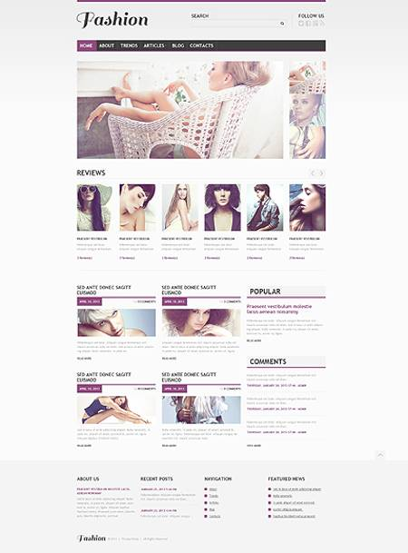 Fashion-Related Responsive WordPress Website