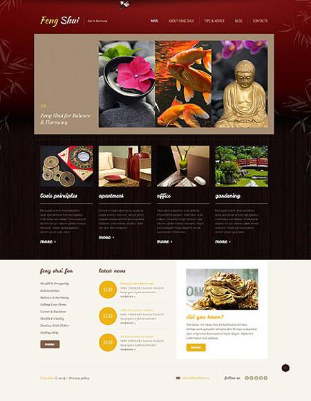 Peaceful Feng Shui Responsive WordPress Theme