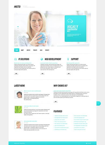 Perfect White Responsive WordPress Theme