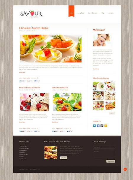 Tasty Cooking Responsive WordPress Template