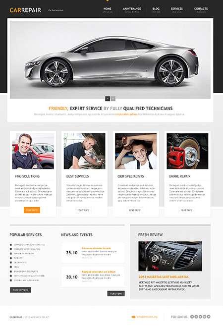 Car Repair Service Resonsive WordPress Website