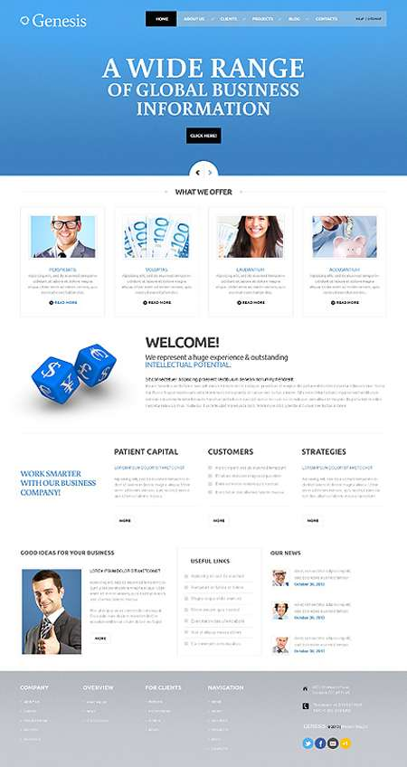 Smaty Business Consulting Responsive WordPress Template
