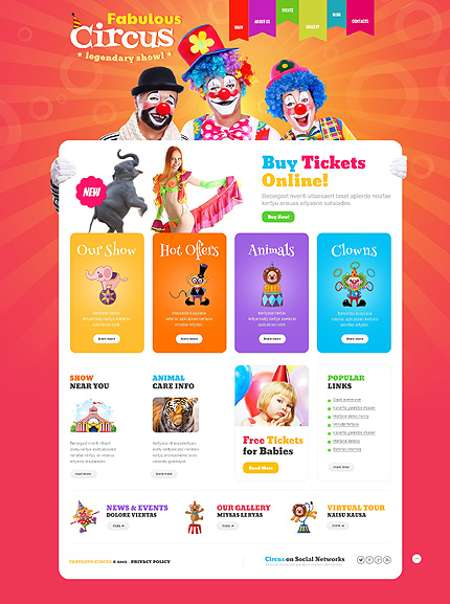 Family Circus Responsive WordPress Template