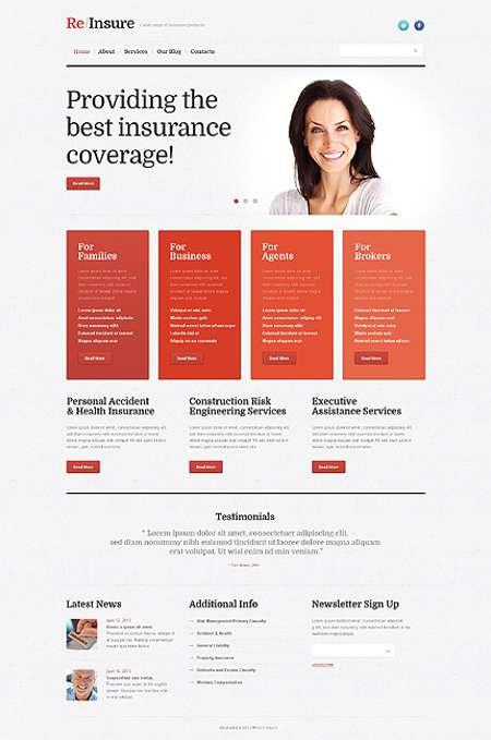 Simple and Nice Insurance Company WordPress Theme
