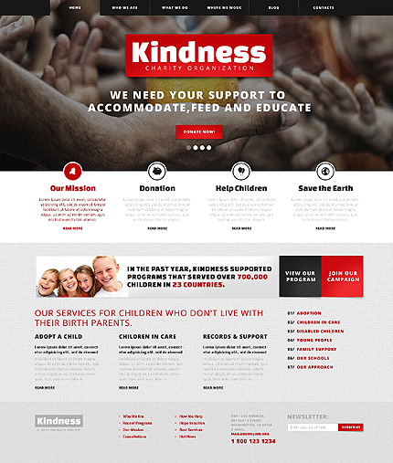 Kindess Will Save the World Responsive WordPress Website