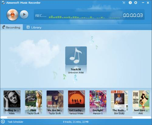 Aimersoft Music Recorder screenshot
