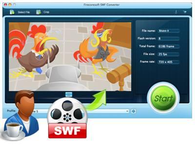 Firecoresoft SWF Converter for Mac screenshot