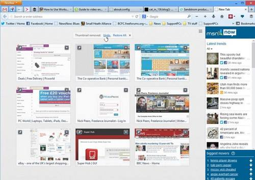 Firefox 25 final screenshot