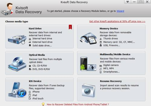 Kvisoft Data Recovery screenshot