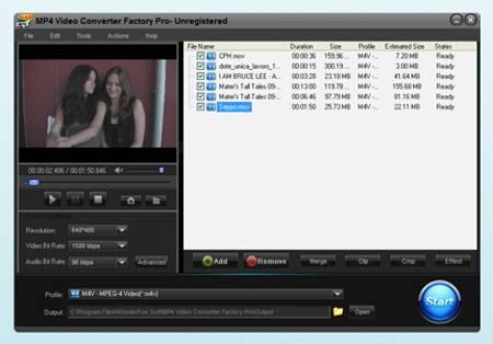 MP4 Video Converter Factory Pro screenshot
