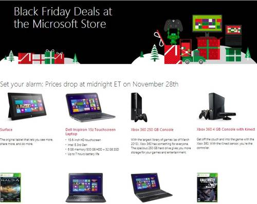 Microsoft store black friday deal 2013
