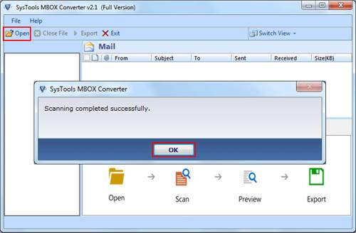Open MBOX File - SysTools MBOX Converter 4