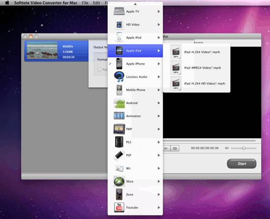 Softtote video Converter for Mac screenshot