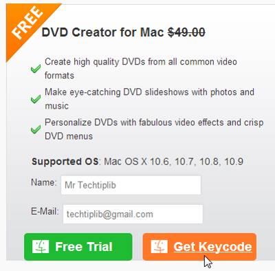 free Wondershare DVD creator for Mac 11.2013