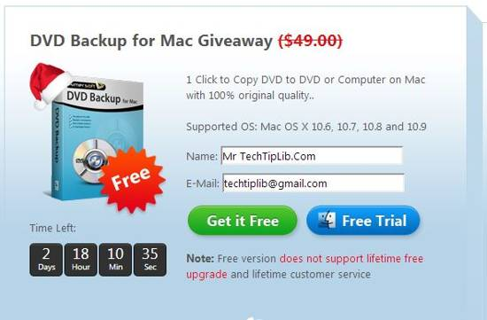 Aimersoft DVD Backup for Mac giveaway 2013