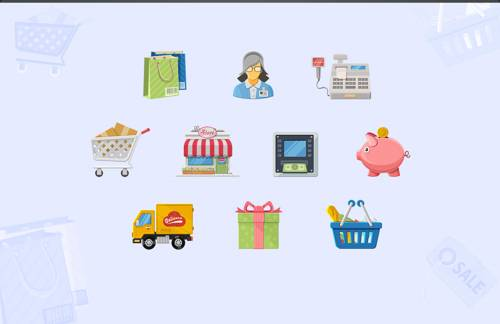 Charming Boutique - Shopping Icons