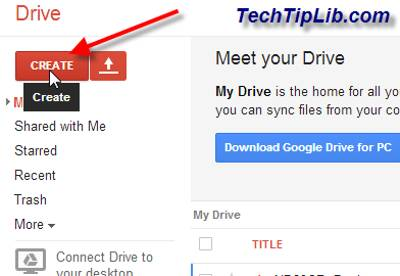 Create folder in Google Drive on web 1