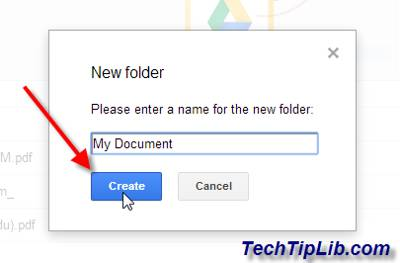 Create folder in Google Drive on web 3