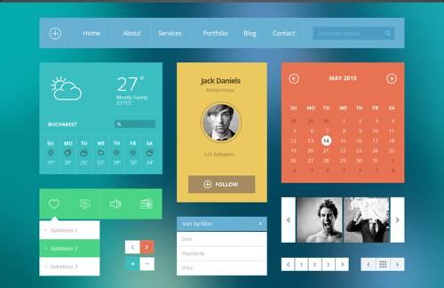 Modern Touch - Flat UI Kit