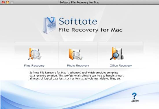 Softtote Mac File Recovery screenshot