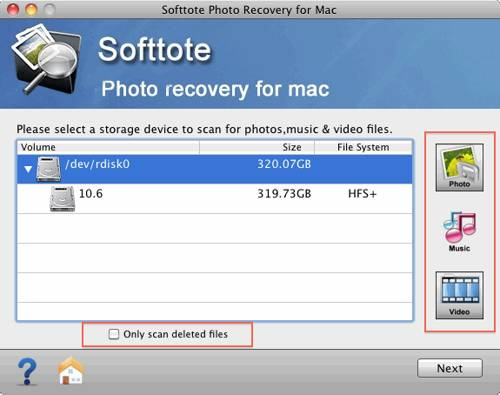Softtote Mac Photo Recovery Software