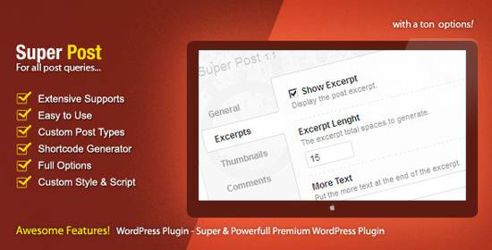 Super Post - WordPress Premium Plugin-code canyon