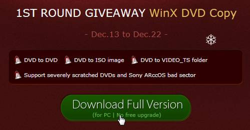 WinX DVD Copy for Christmas 2013