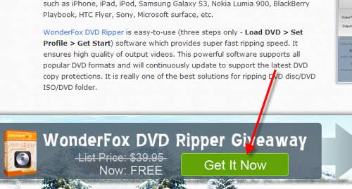 WonderFox DVD Ripper giveaway december 2013