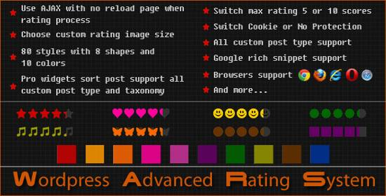 Wordpress Advanced Rating System