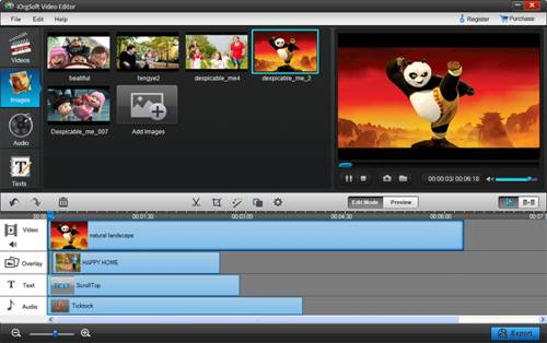 iOrgsoft Video Editor for Windows screenshot