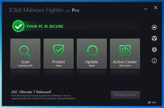 iobit malware fighter 2 pro screenshot