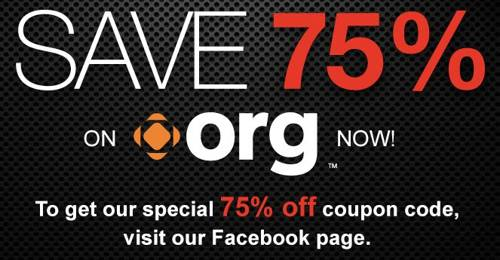 limited time offer .org with off 75-december-2013