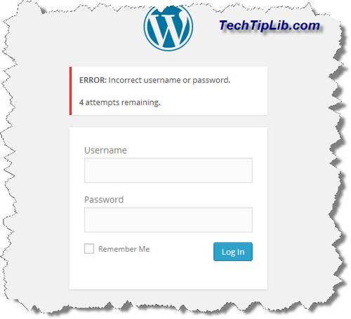 wordpress-login-error