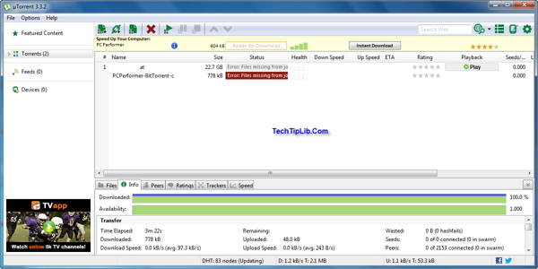 µTorrent Portable 3.3.2