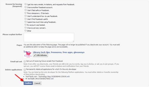 Delete Facebook account 1