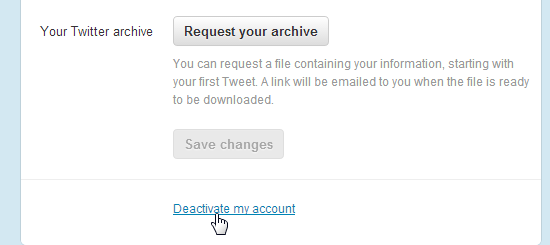 Delete Twitter account 2
