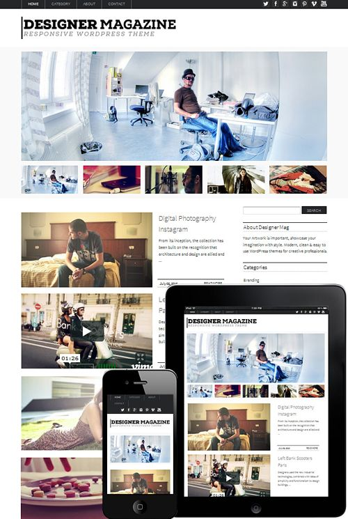 Designer Magazine Responsive WordPress Theme