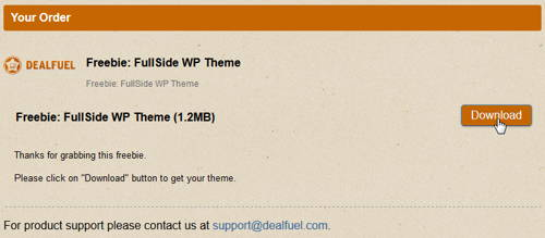 Get FREE FullSide WordPress Theme_step 4