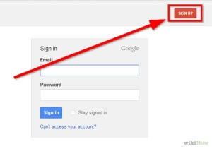 Log into Google account