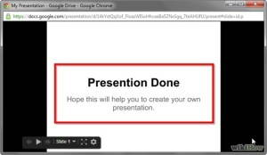 presentation done