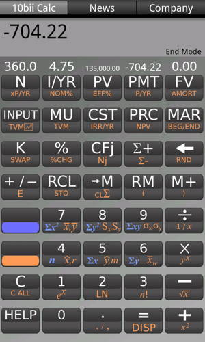 Get free the great app 10bii Financial Calculator for your Android 1