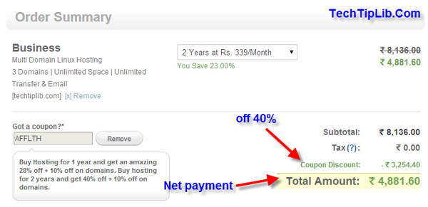 How to get off 40% Web Hosting from BigRock