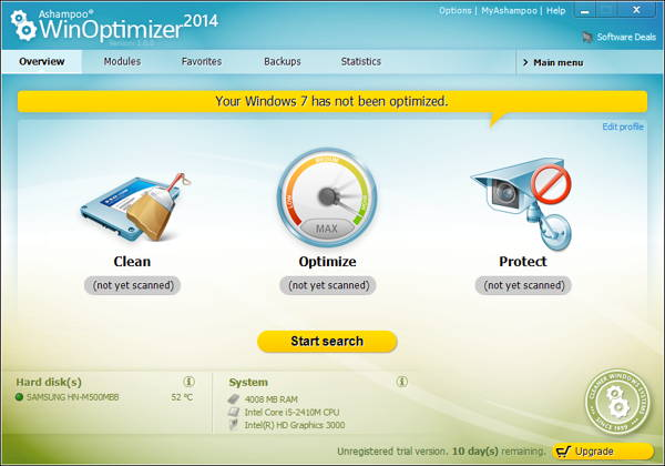 Giveaway for FREE license key of Ashampoo WinOptimizer 2014